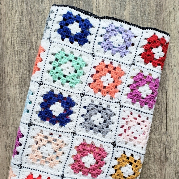 Vintage Other - ⚡Vintage Granny Square Afghan Throw